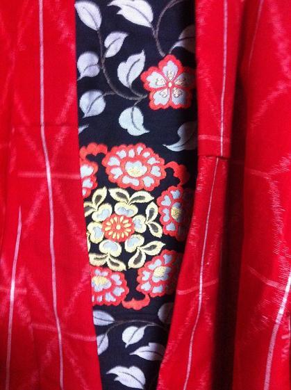 ウールの着物と名古屋帯