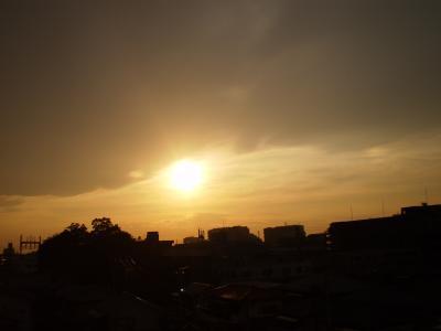 31日の夕日