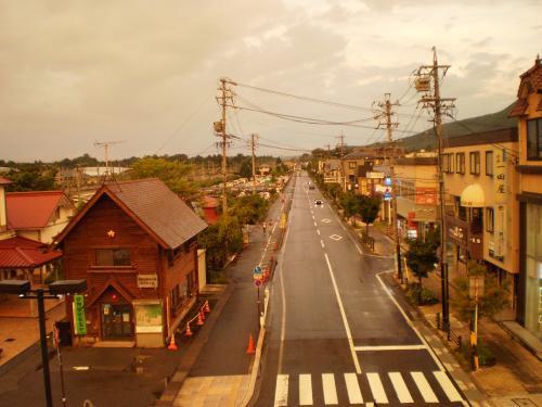 雨上がりの街