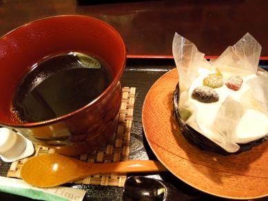 絹ごし緑茶てぃらみす&コーヒー