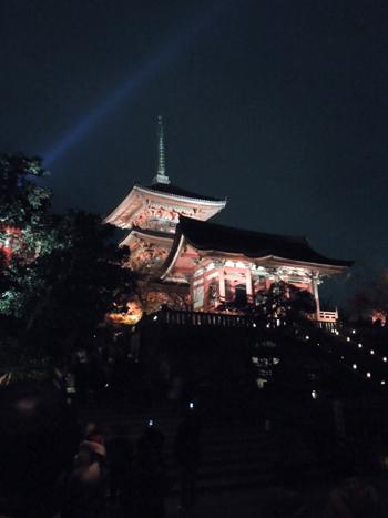 清水寺ライトアップ1