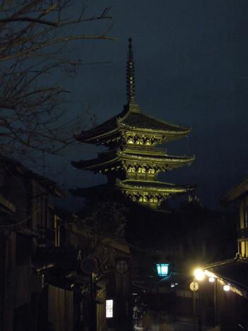 夜の八坂の塔