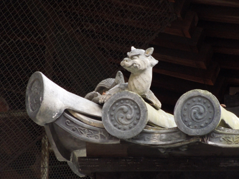 南禅寺の屋根の龍