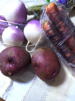地元の野菜たち