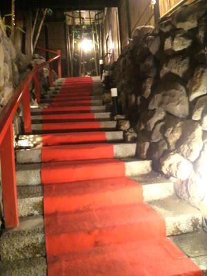 隠れ館階段