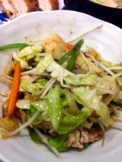1210野菜炒め