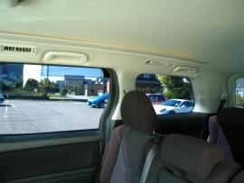 ヴェルファイア車内から見た感じ