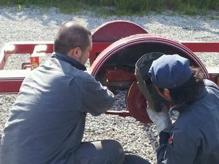 トレーラー板金修理1