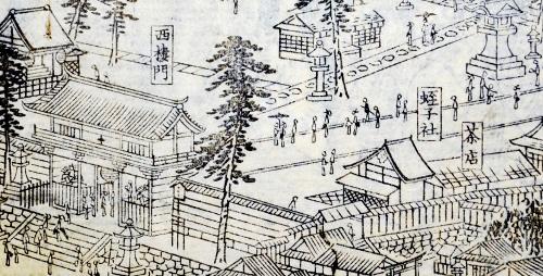 「花洛名勝図会」より祇園社