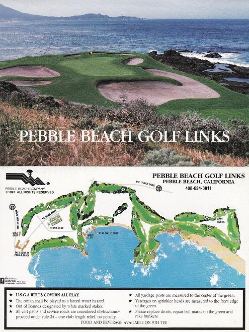 ペブルビーチゴルフスコアカード