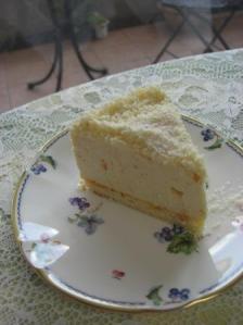 オレンジのチーズケーキ