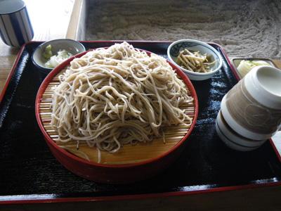 御殿茶屋の蕎麦