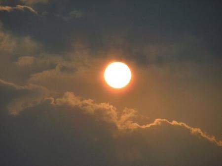 輝く夕陽 008