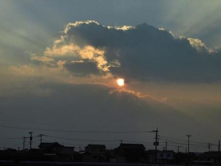 輝く夕陽 006