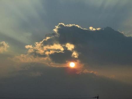 輝く夕陽 003