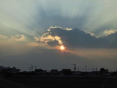 輝く夕陽 004