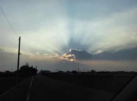輝く夕陽 001