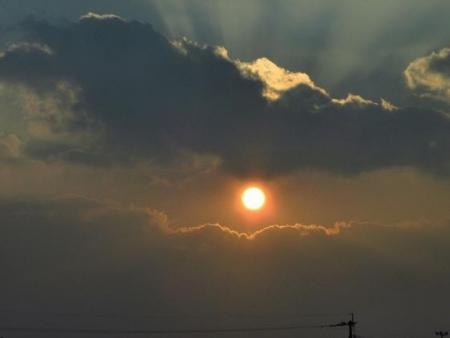 輝く夕陽 012