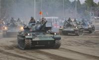 12-滝ヶ原 74式戦車 迫力が違いますね。