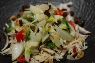 チコリとささみのサラダ