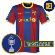 バルセロナ10-11ホームユニフォーム2011コパデルレイ決勝