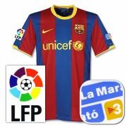バルセロナ10-11ホームユニフォームLa Marato チャリティパッチ