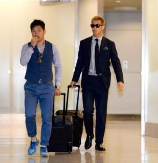 【画像】ミラン本田とインテル長友がそろって帰国!2人共イタリアっぽい