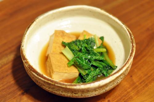 小松菜と厚揚げの煮びだし