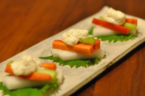 お野菜と塩糀豆腐ディップ