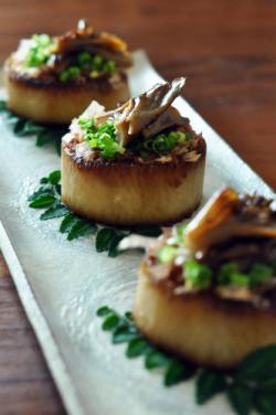 大根と舞茸のステーキ