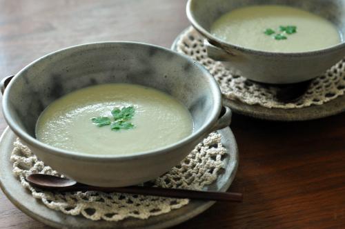 林檎とグルーチーズのクリーミースープ