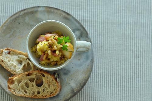 洋梨フルブラと生ハムのポテトサラダ