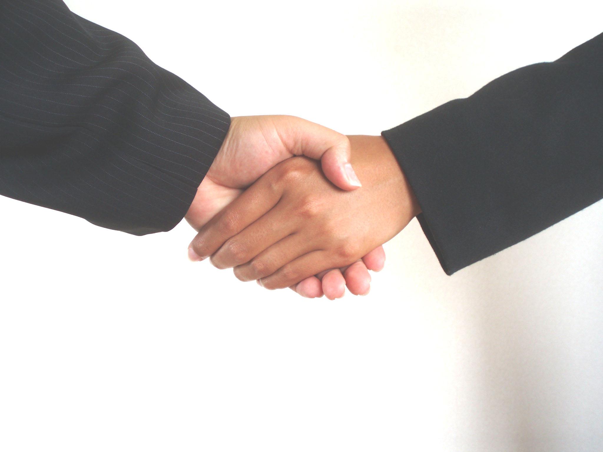 無料のフリー写真集! 握手