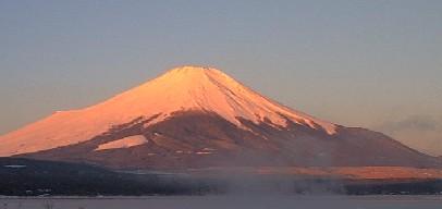朝日の富士山