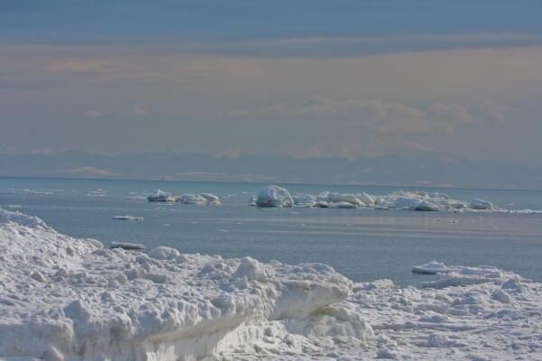 去年の今日の流氷