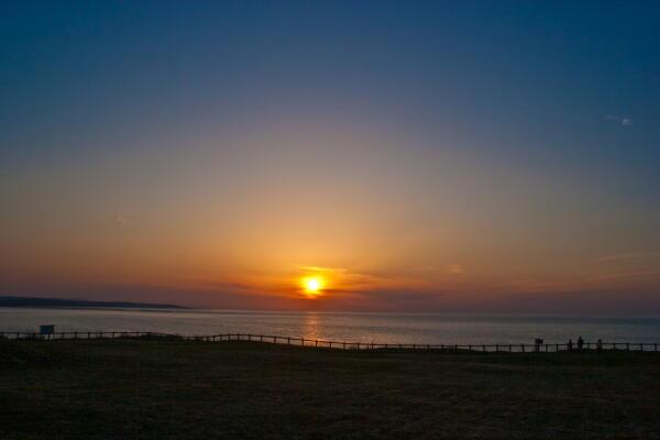 オホーツクへの落日