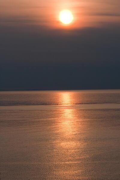 四角い夕陽のシーズン到来
