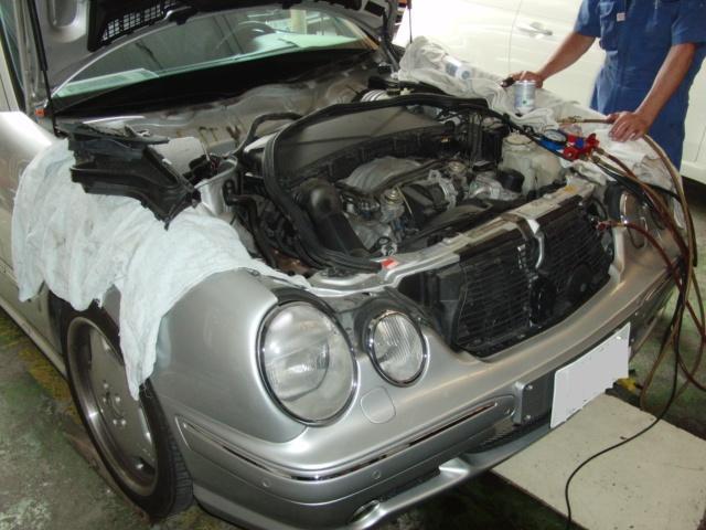 ベンツE55エアコン修理