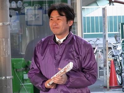 20110310東林間駅頭
