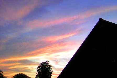 夕日~ぎゃらりーふじやんより。