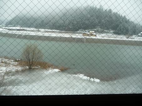 3月9日に雪が降ったよ