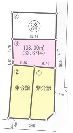 南町3区画図