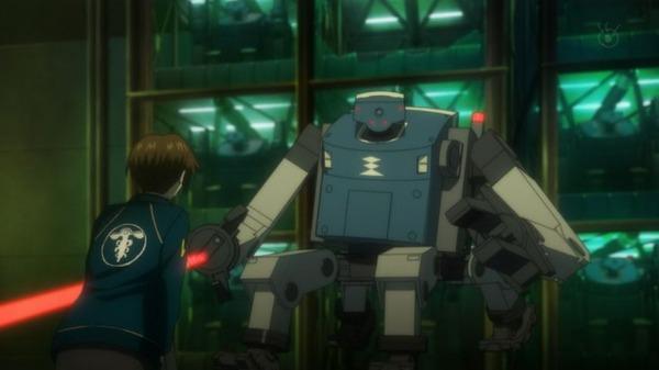1 朱 ロボットに対峙