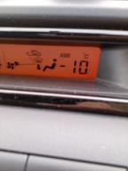 とうとうマイナス10℃