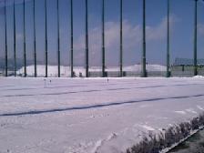 雪が山積み
