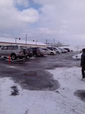 駐車場も混んでいる