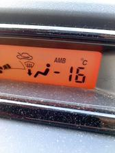 マイナス16℃!