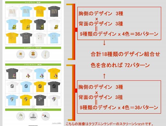 クラブニンテンドーTシャツ2010の種類について