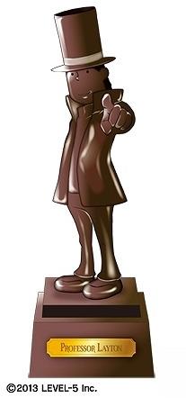 レイトン教授のプレミアムブロンズ像