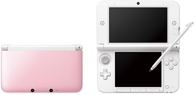 3DSLL新色 ピンク×ホワイト サンプル画像